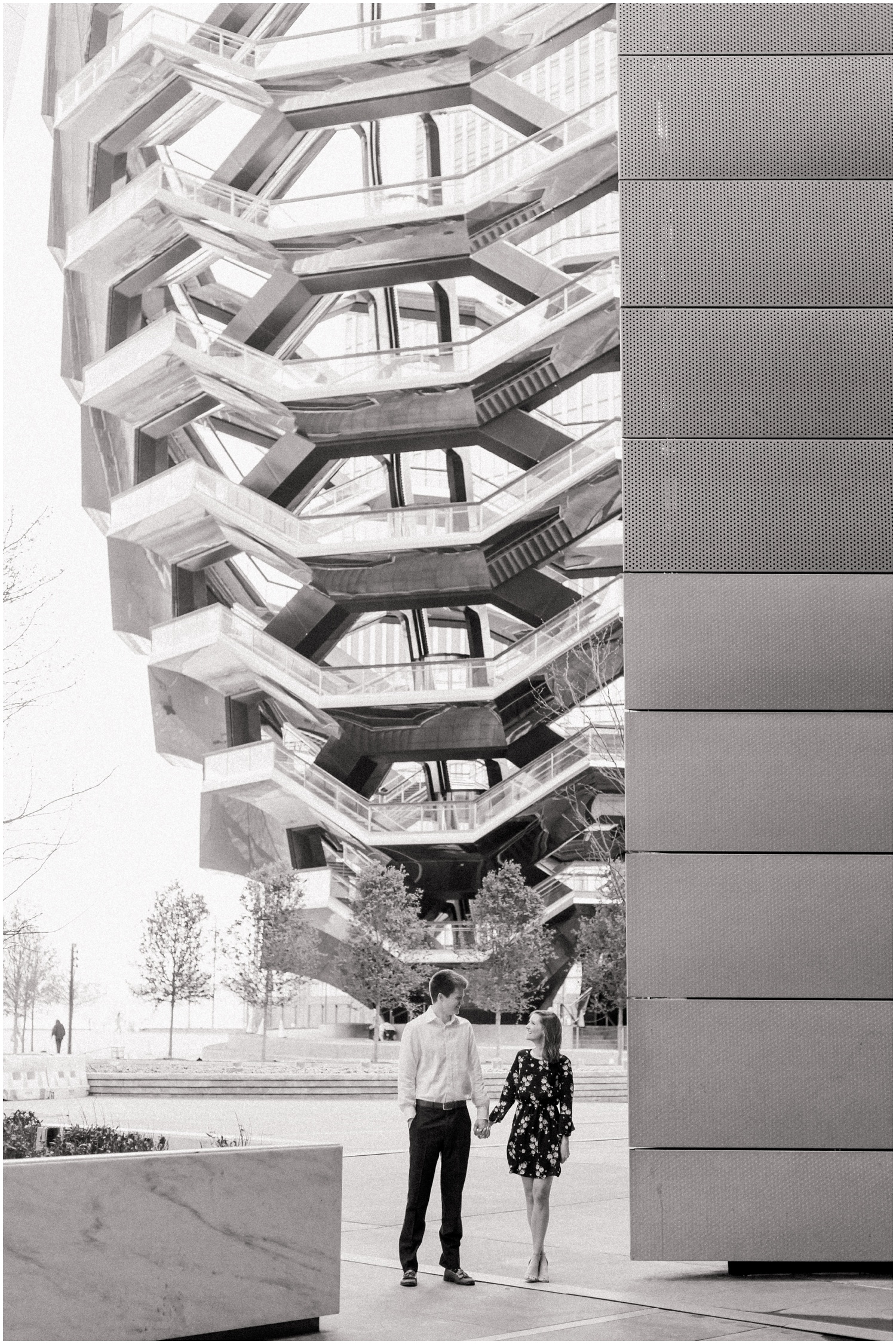 new york city_high line_hudson yards_engagement photography session