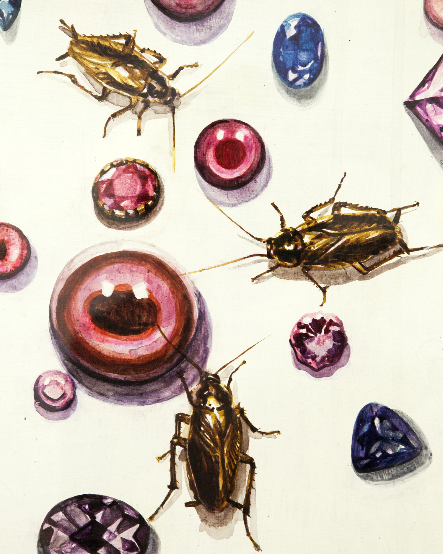 "Detail of ""Insta"" by Aubrey Learner for ""Fly Traps"""