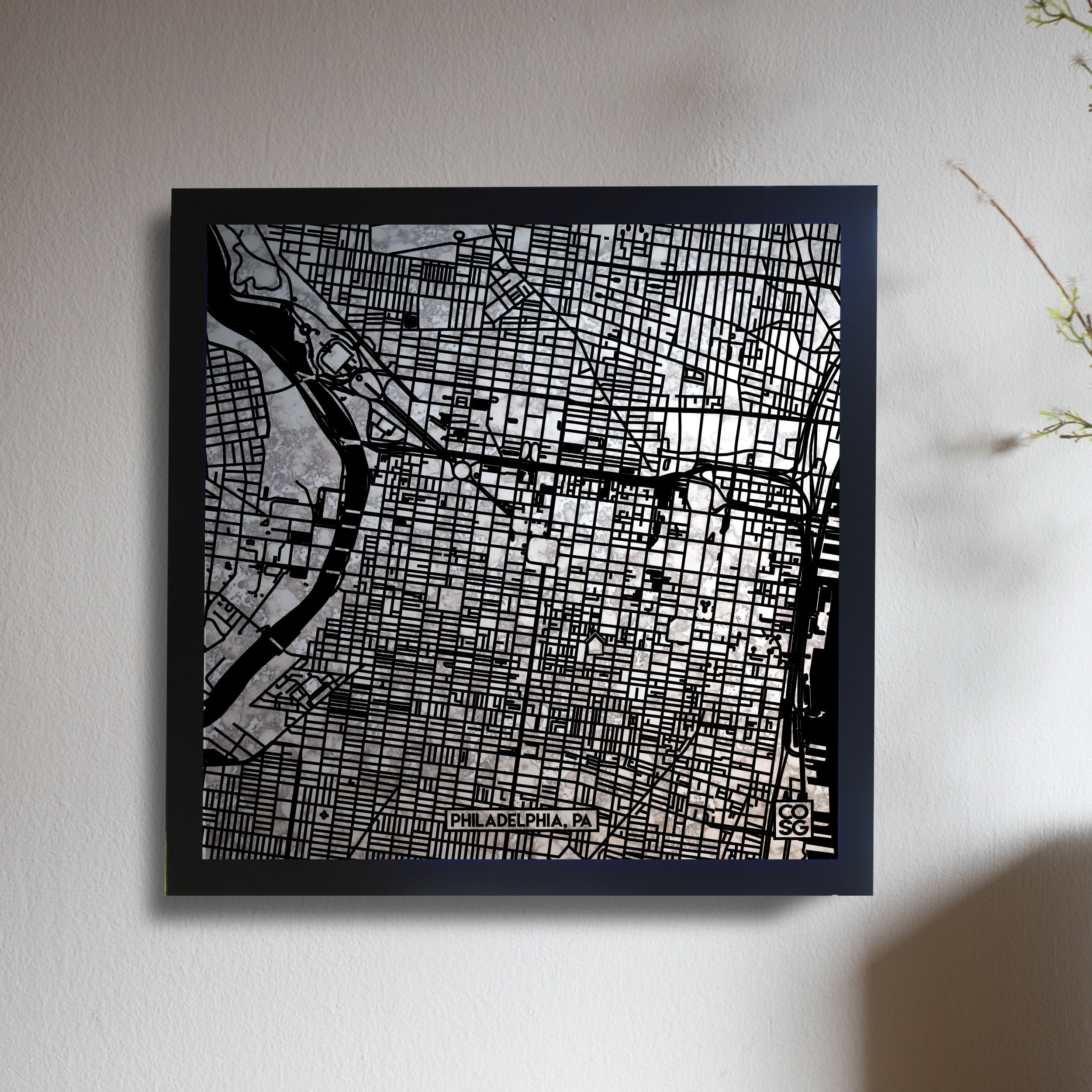 Philadelphia Mirror Map Custom