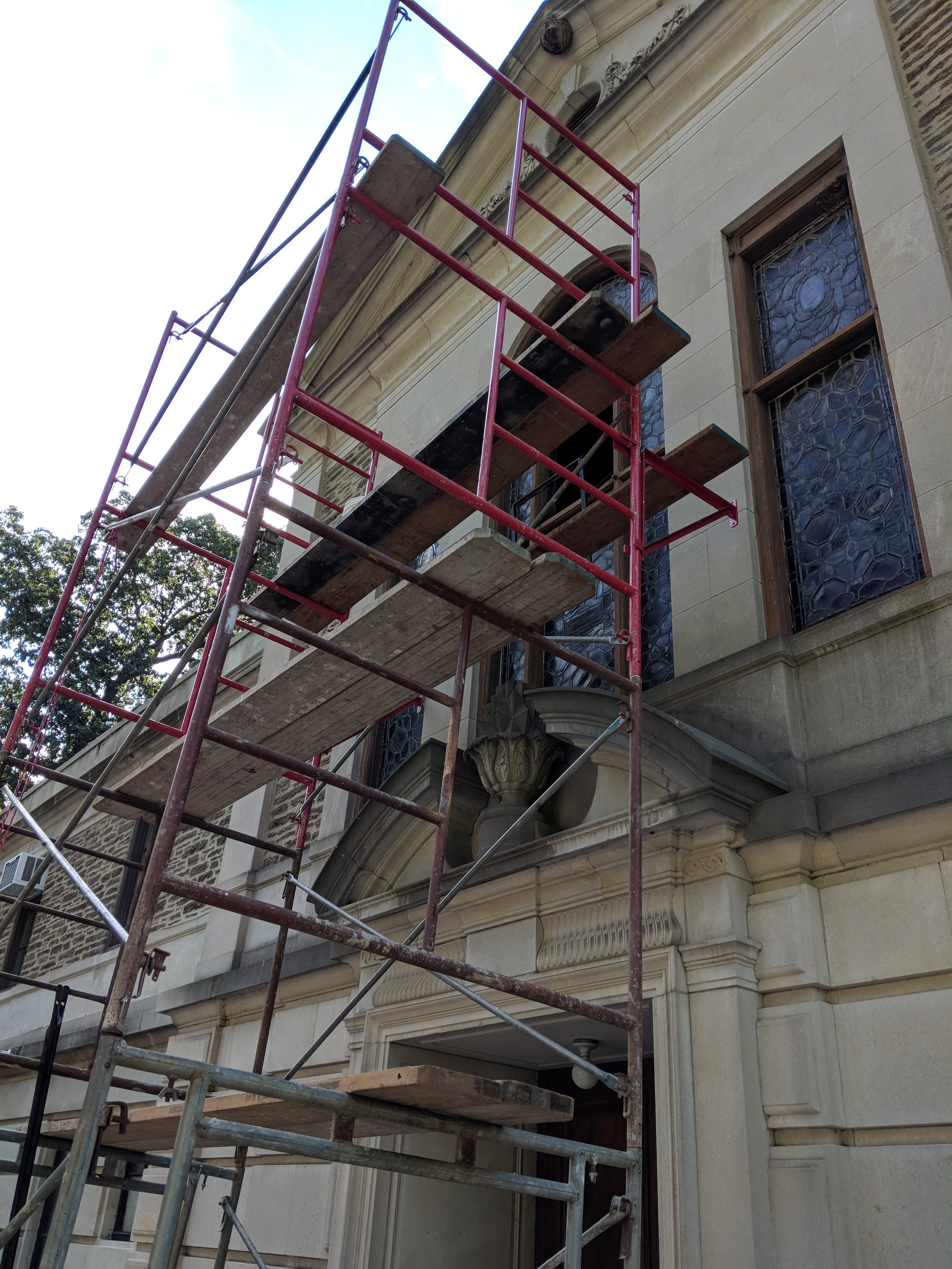 Each restoration project starts with a window assesment and condition report. During our initial consultation we will discuss how to best care for your window, and the space, time, and budget constraints of the project. If we decide a full restoration of your troubled window is necessary, we will schedule a removal.