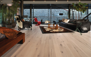 Hardwood floors are easy to clean.