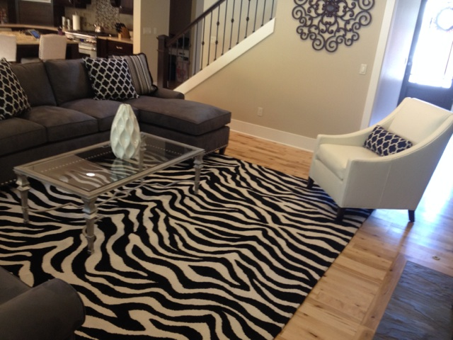 Zebra Living Room Rug