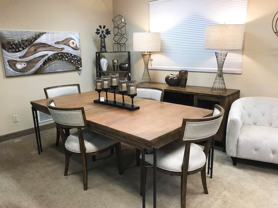 HOT BUY - HECKMAN BEDFORD PARK DINING SET: Includes table, 4 chairs, and entertainment console $3890