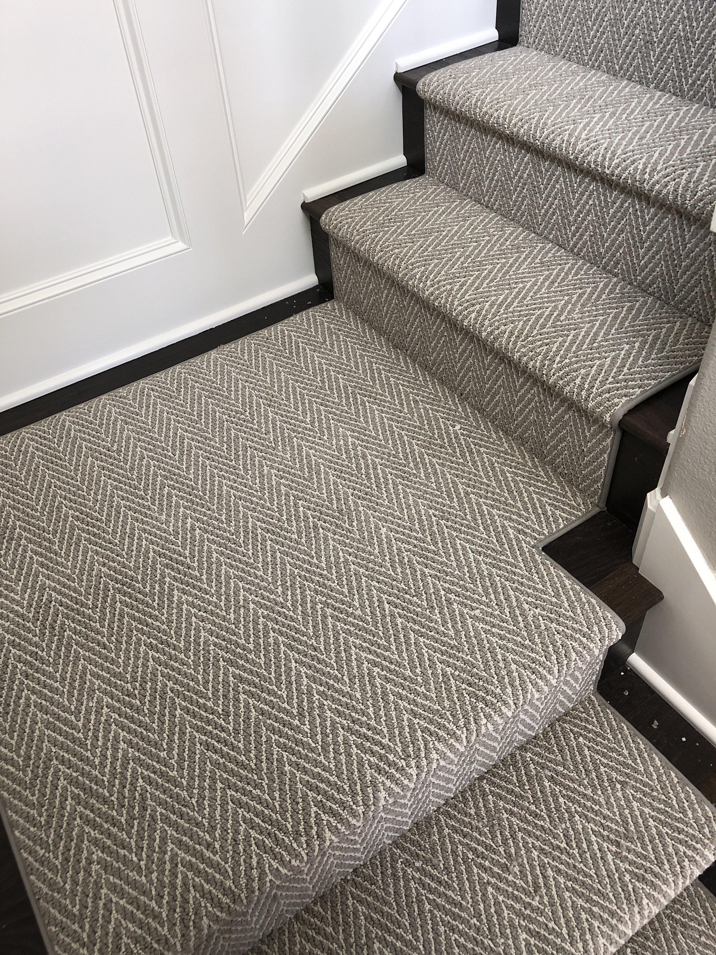 Custom Stair Runner Standard Binding