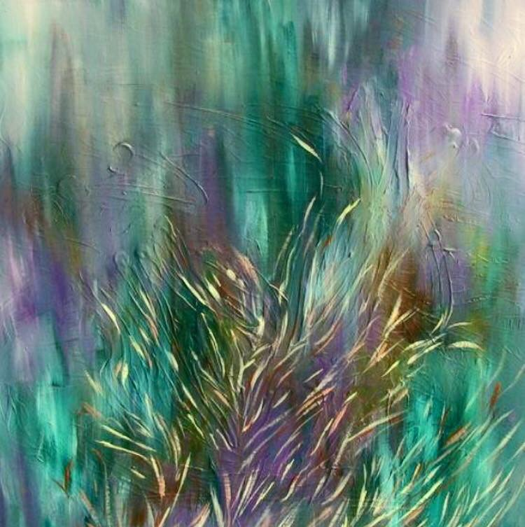Turbulence Behind Tranquility | Erin McGrath Rieke | Acrylic on Canvas | 30x30 | SOLD