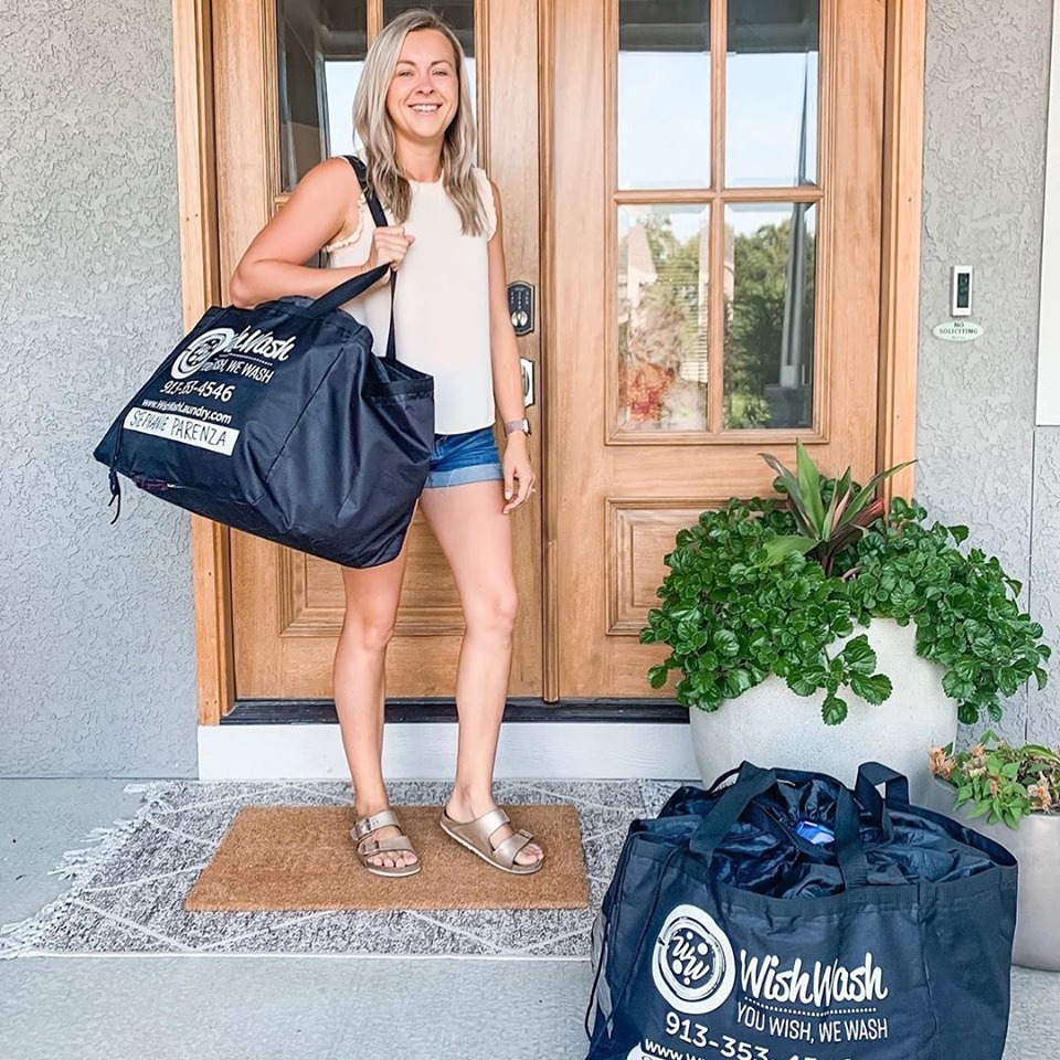 """Post vacation mode: let someone else do my laundry. Nothing is worse than coming home from an amazing getaway only to be bogged down by mile long to-do list. I'll be scrambling all week to catch up but so thankful that I can unload my laundry on @wishwash_laundry. I can't even express how life changing this service has been for me. I love being able to shift my focus elsewhere. If I didn't have them, you'd most likely find me lost in piles of clothes. If you have kids, you can probably relate. I don't even know how they go through that much laundry in a week!""   -Stephanie Parenza  @ mrsandsis"