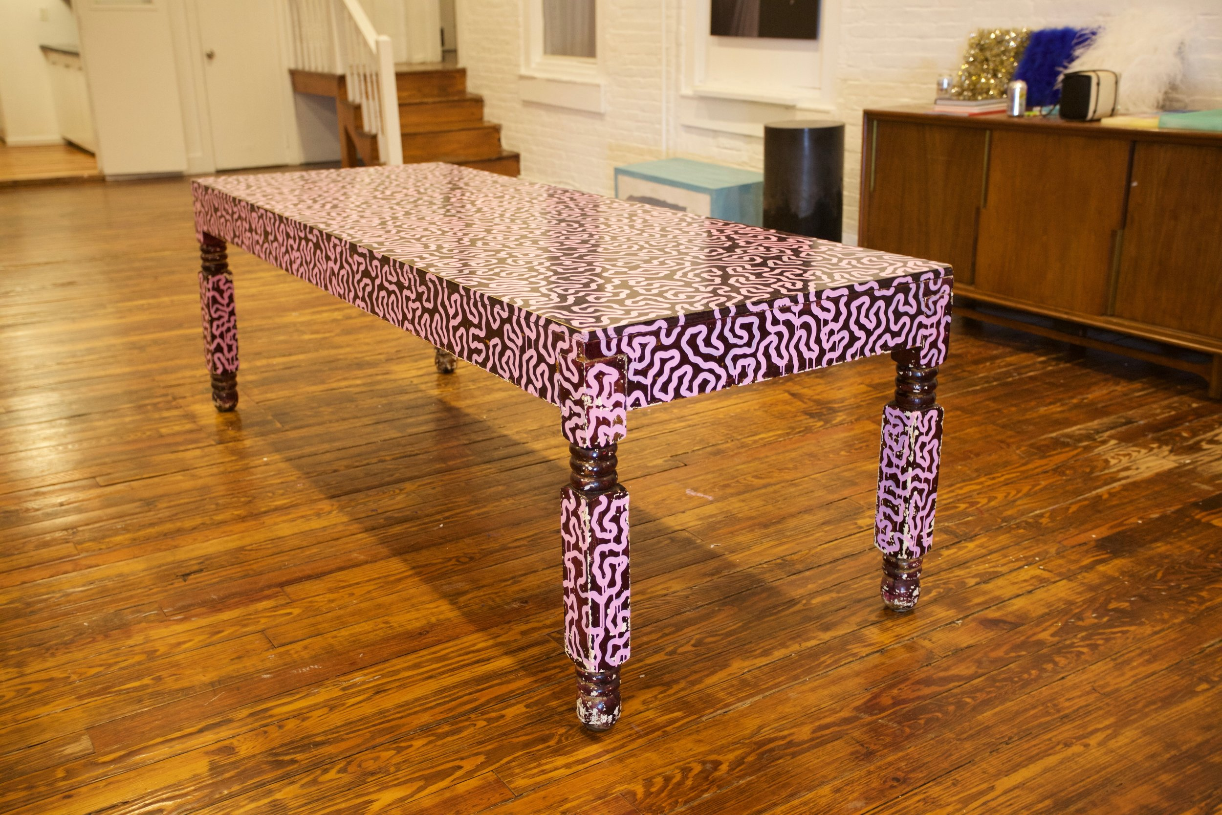Hand painted table, 2018