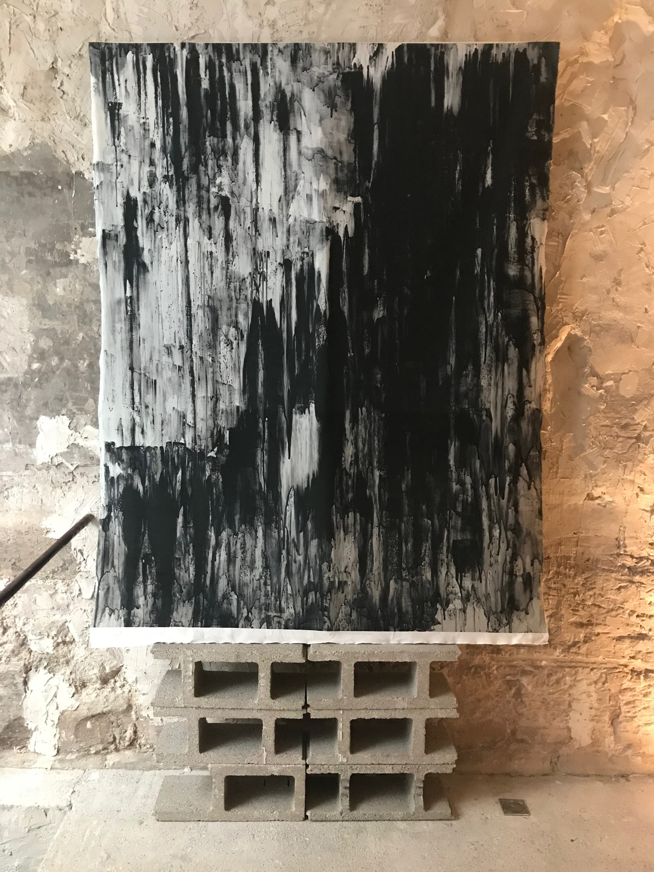 Painting digitally printed on fabric  150 cm x 200 cm  LUCID INTERVAL / 94 Rue Quincampoix, Paris, France