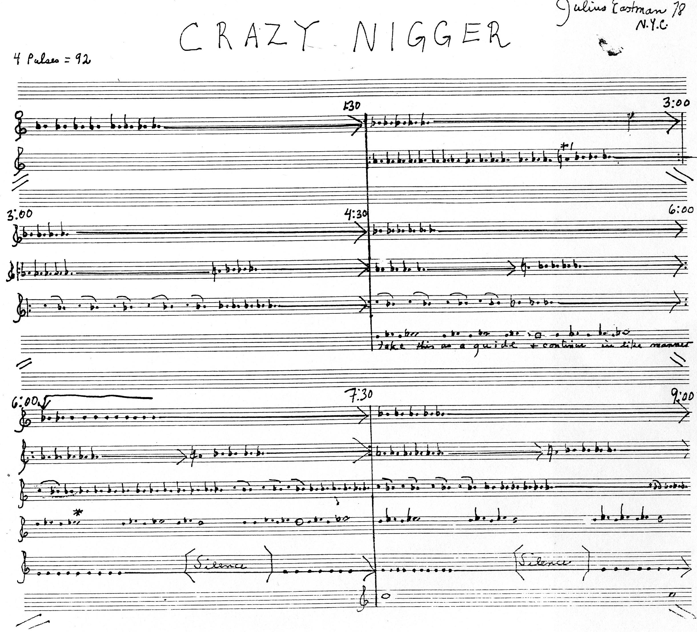 Eastman_Crazy Nigger Score Pg 1.jpg