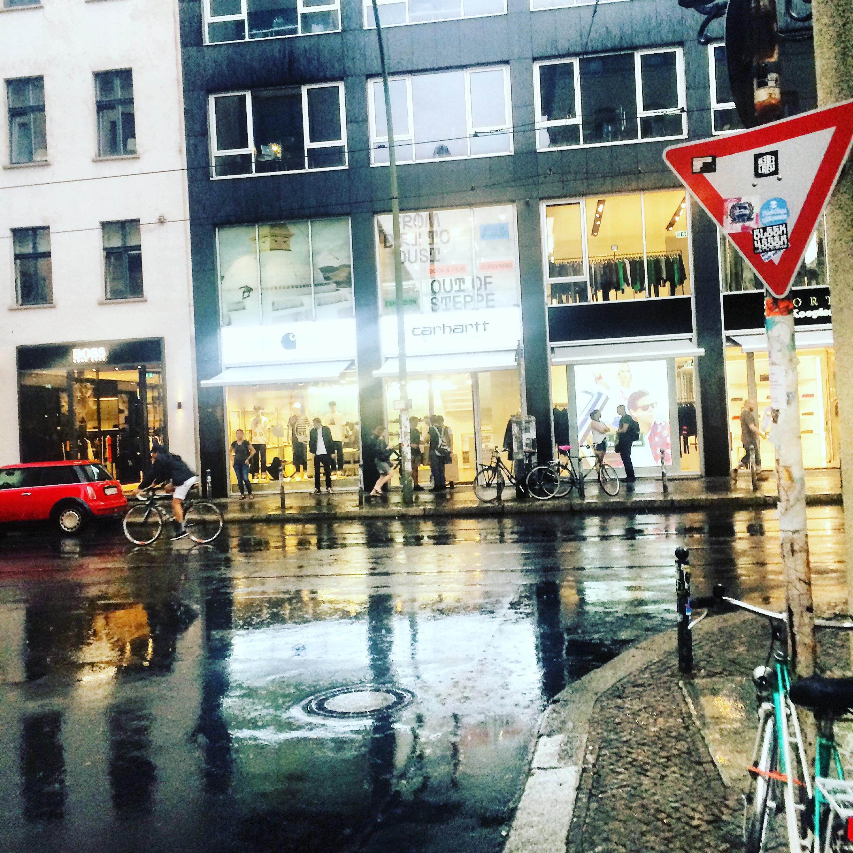 Sophienstraße, 10178 Berlin on a rainy September day