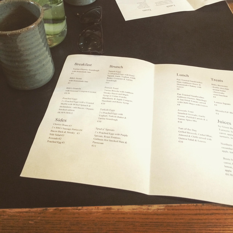 Bibi's_paper_menu