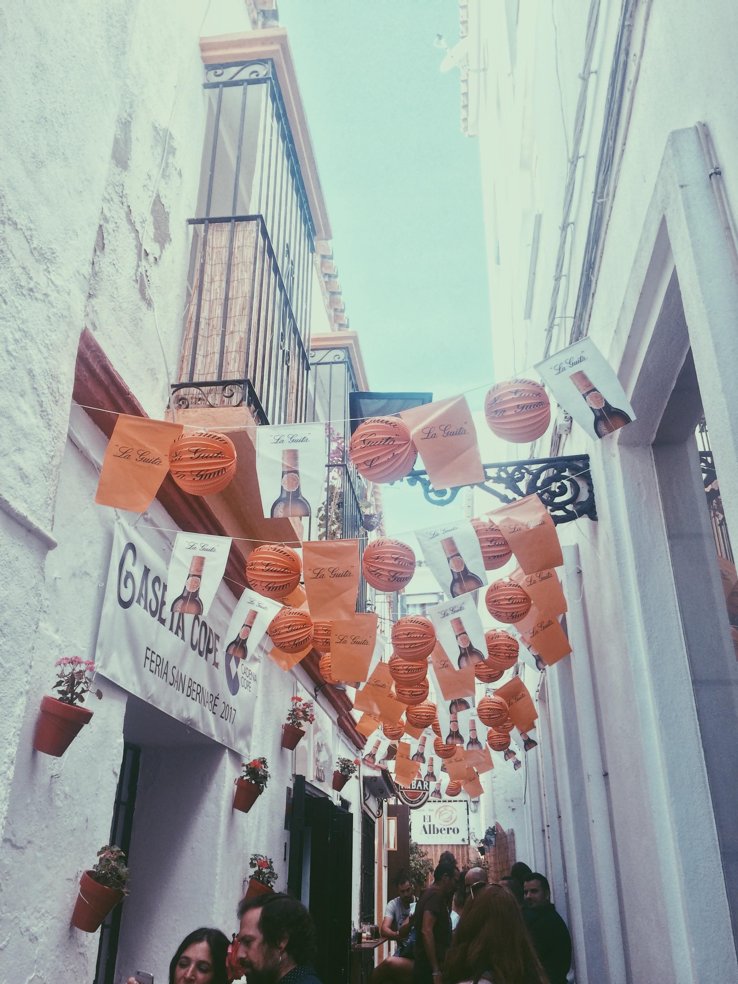 Calle Pantaleón, Marbella, during Fería 2017