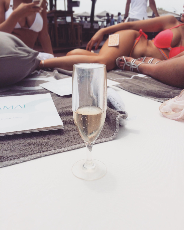Champagne at Ocean Club, Marbella / Puerto Banús