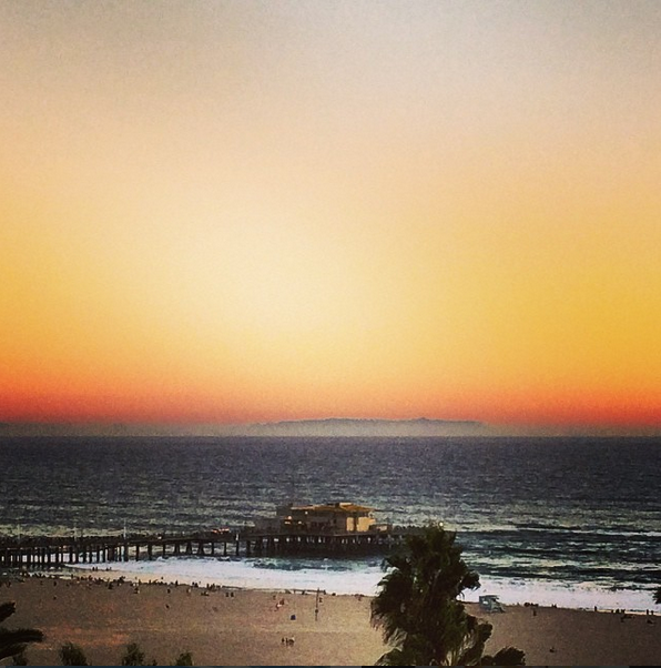 Santa Monica pier and Catalina island (view from the Shangri-La Hotel)