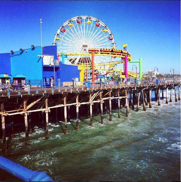 The ferris wheel at Santa Monica pier