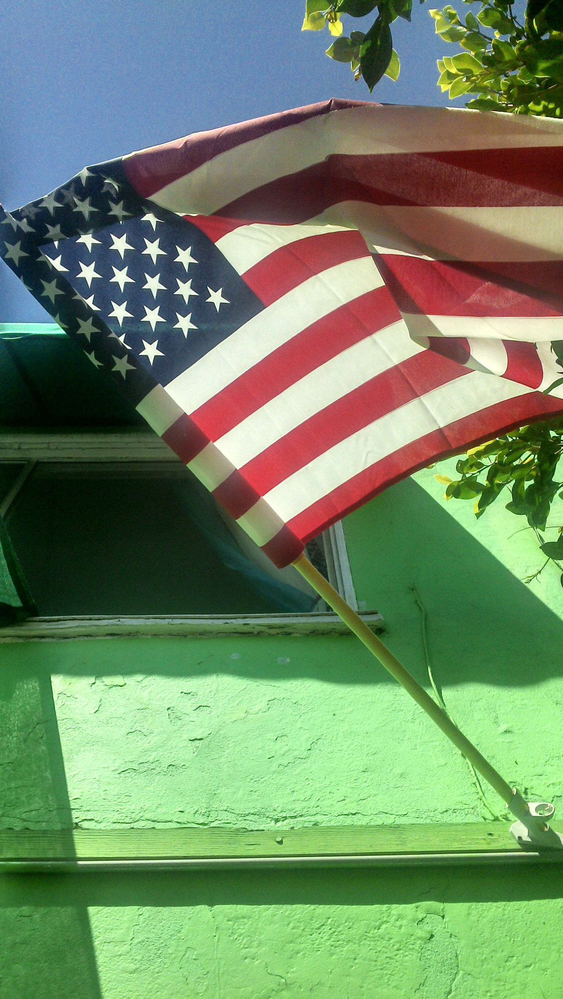Stars and stripes on green at Patrick's Roadhouse, PCH