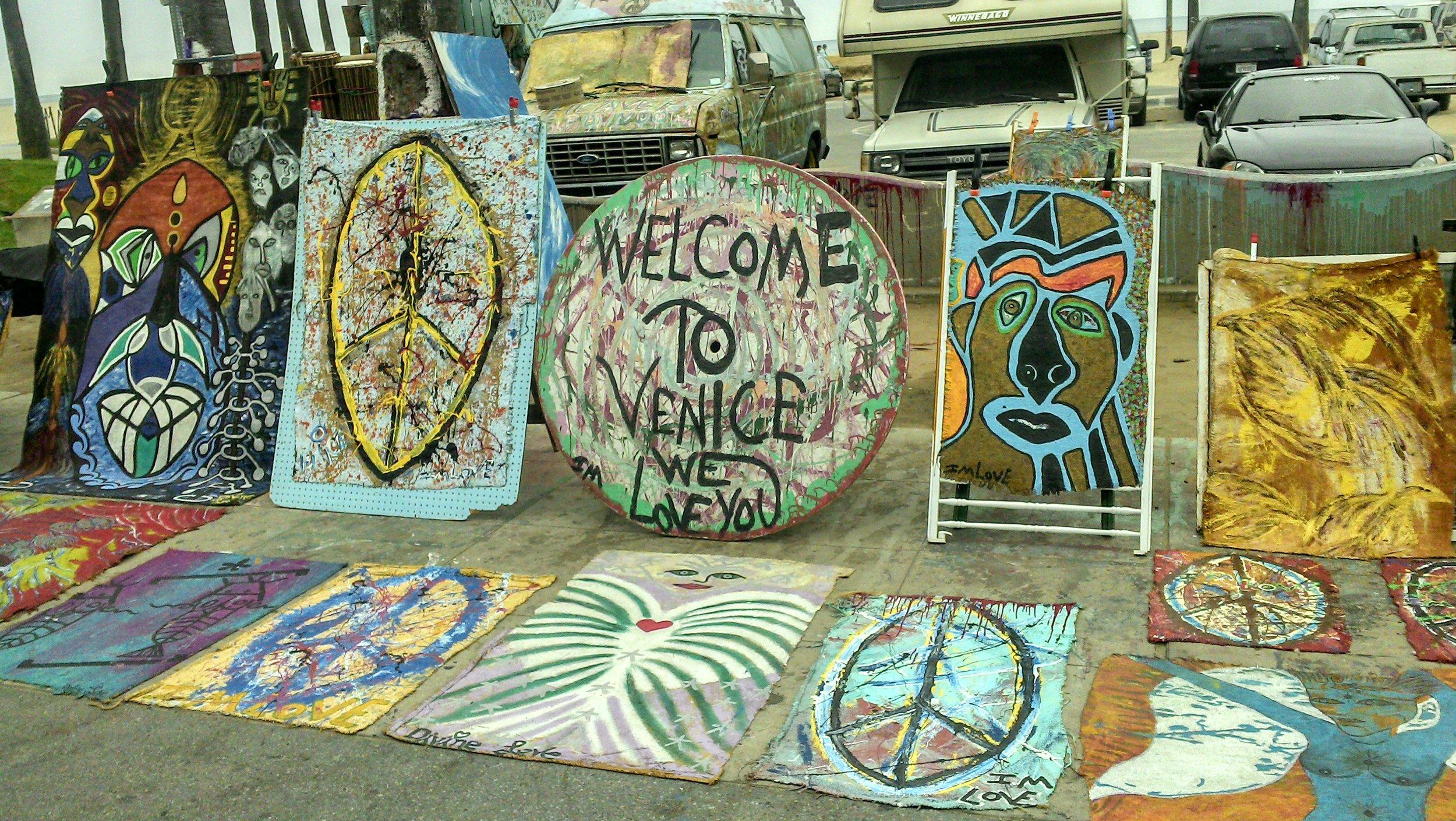 Local artwork on Venice Beach