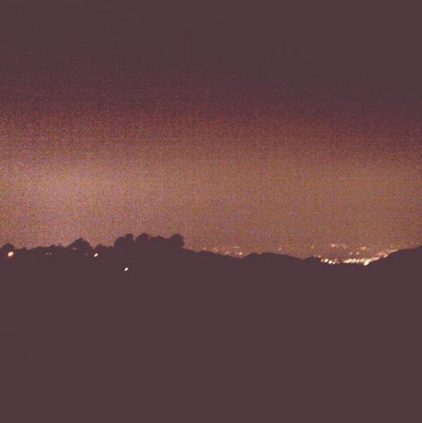 Hollywood Hills at night