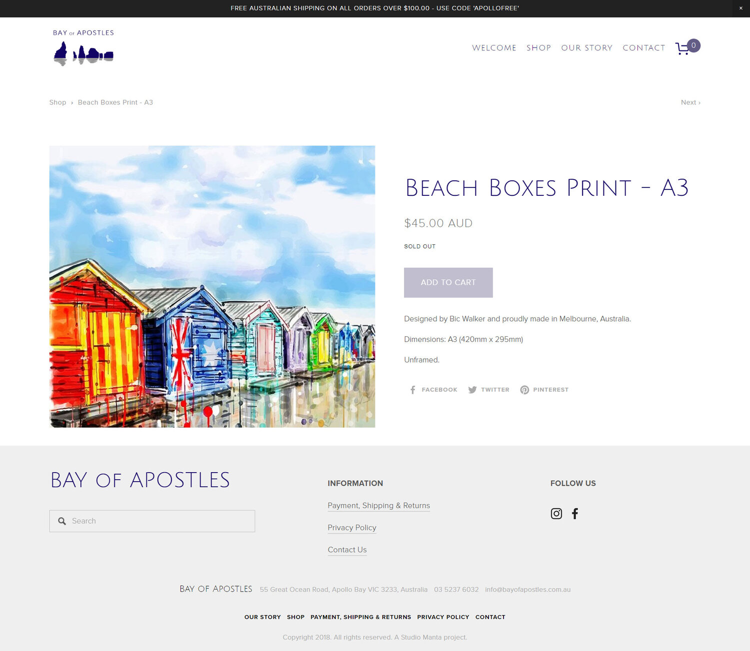 Bay of Apostles - Product Page