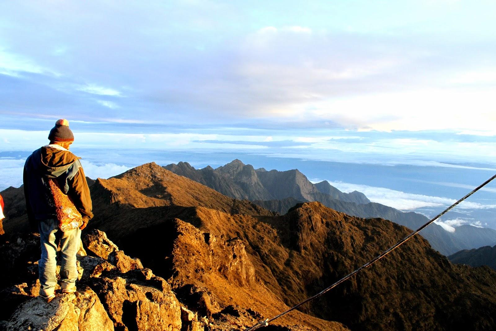 The summit of Mount Wilhelm.