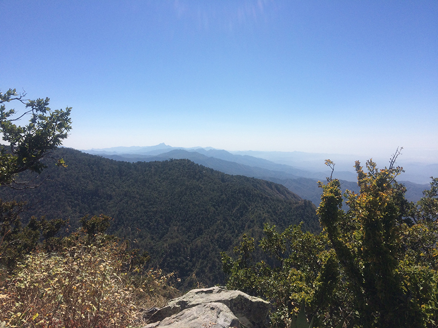 Hiking view from Sierra de la Lagunas
