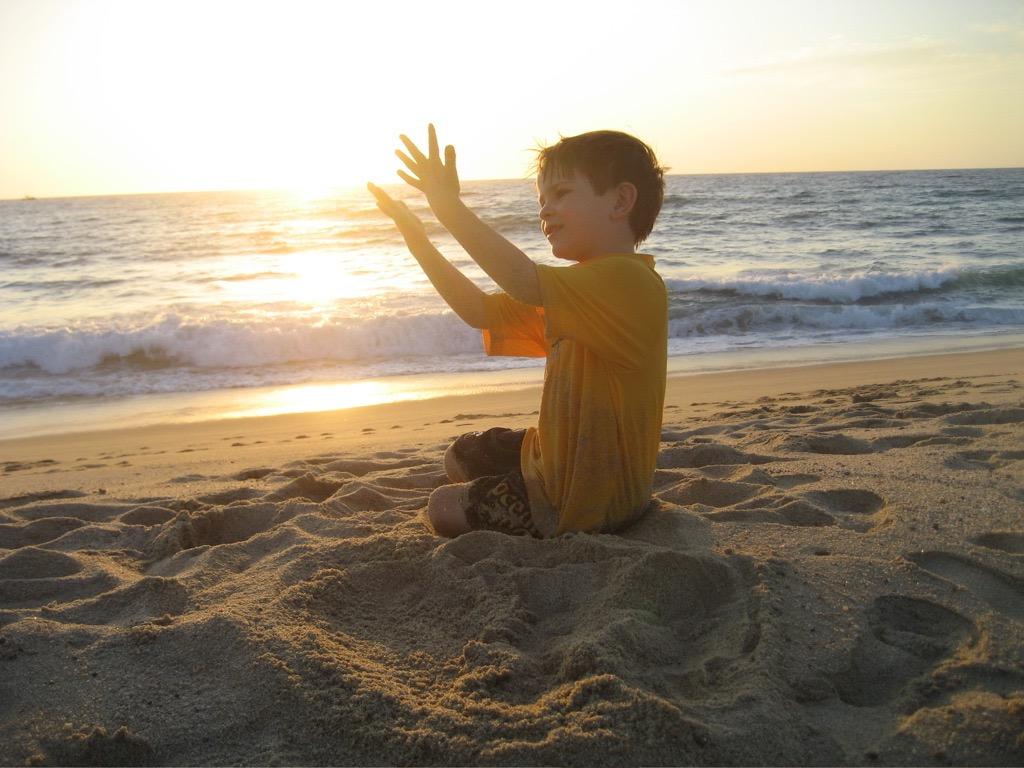 Enjoying a Cerritos sunset