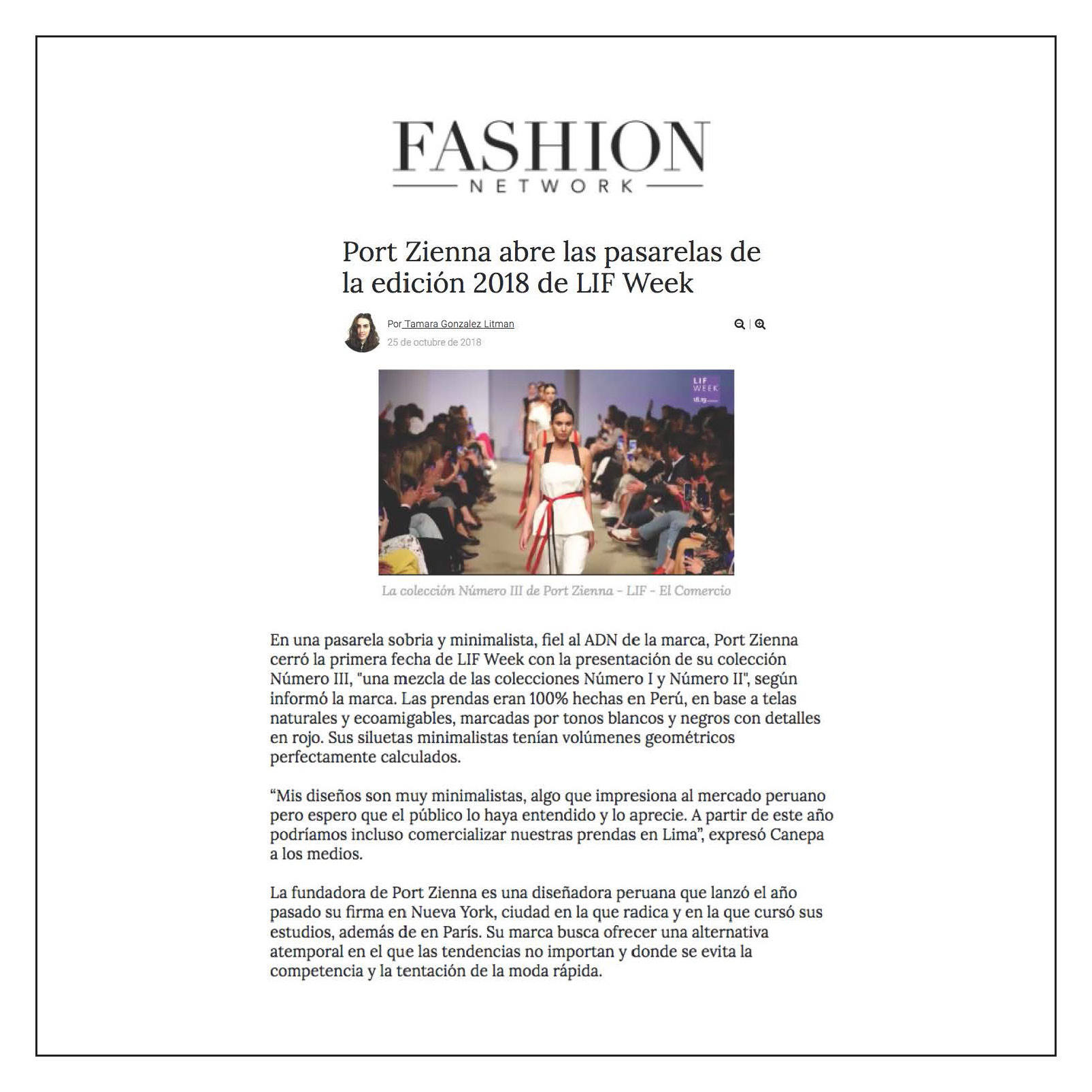 Fashion Network — October 2018