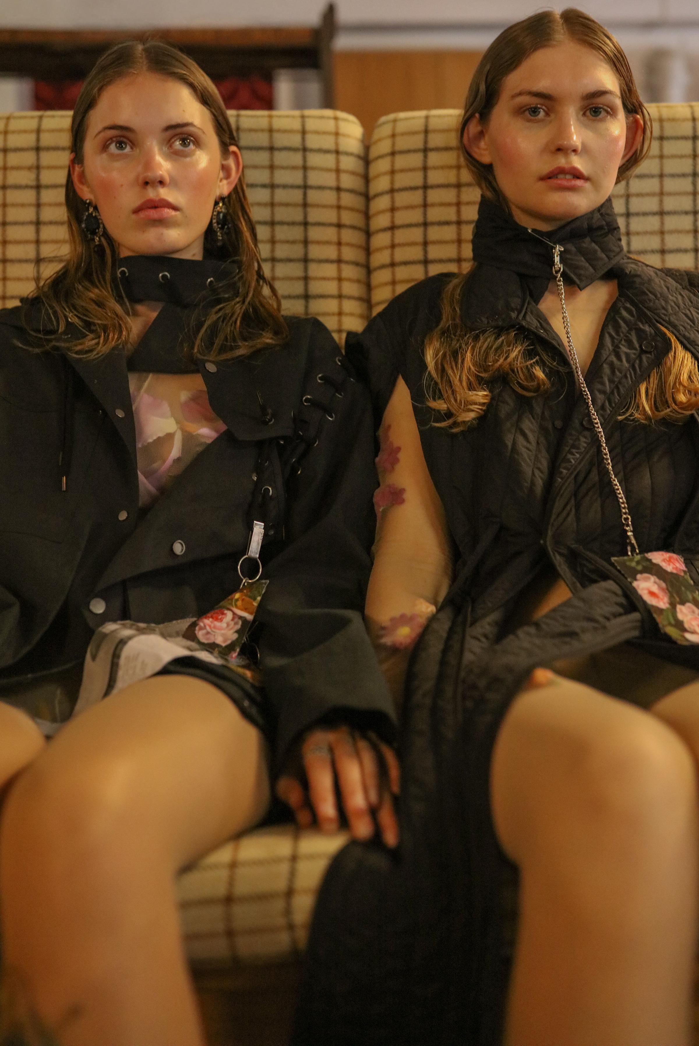 Sarah & Kymberley wears Samantha Diorio & Jake Paraskeva accessory tags