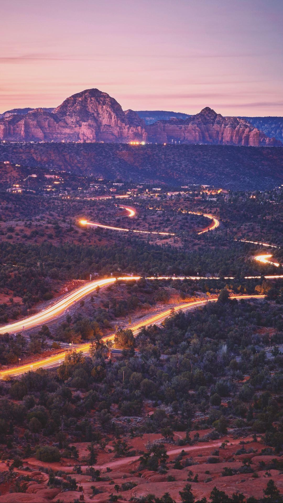 Wallpaper iPhone travel photography Sedona Arizona road trip sunset