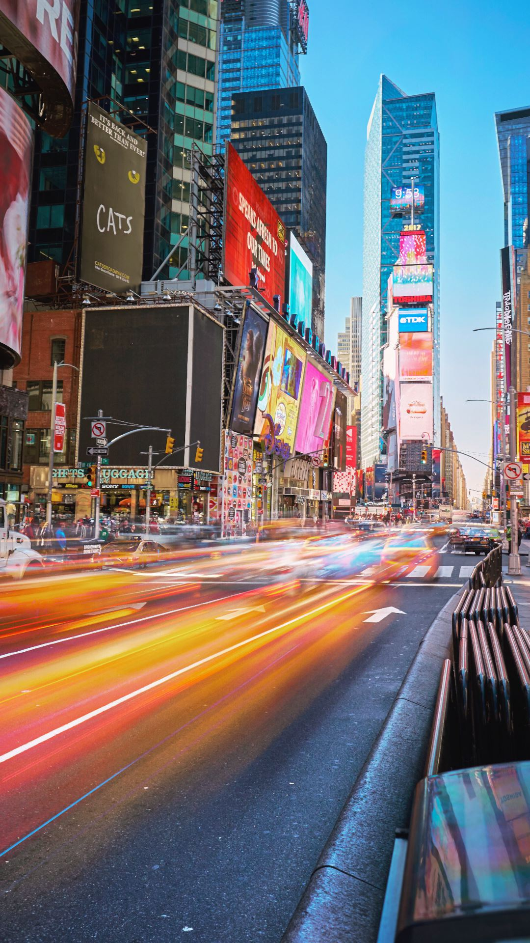Wallpaper iPhone travel photography nyc New York long exposure taxi Times Square
