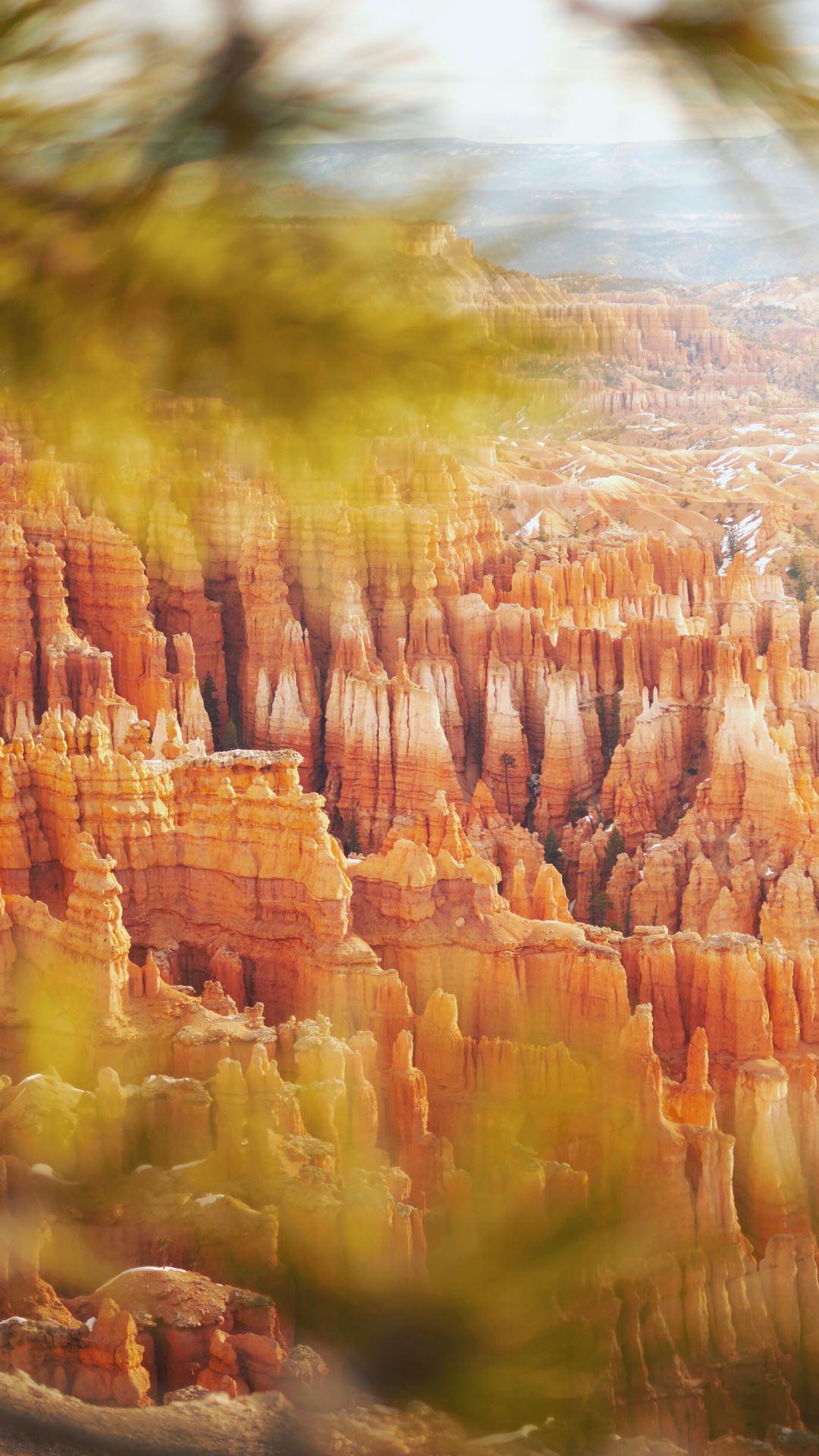 Wallpaper iPhone travel photography Bryce Canyon Utah national park sunrise
