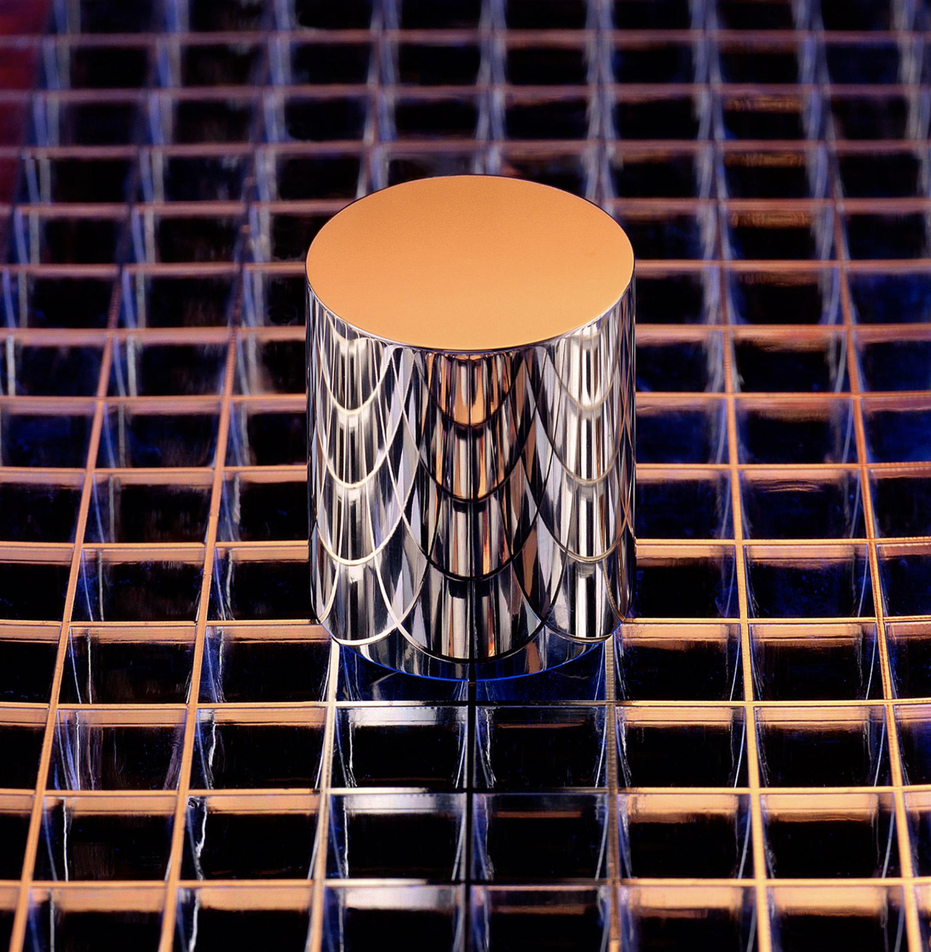 This cylinder is an exact replica of the International Prototype of the Kilogram, or IPK. Stored at the National Institute of Standards and Technology in Gaithersburg, Maryland, this particular copy is the basis for all weight calibrations in the United States.  PHOTOGRAPH BY ROBERT RATHE