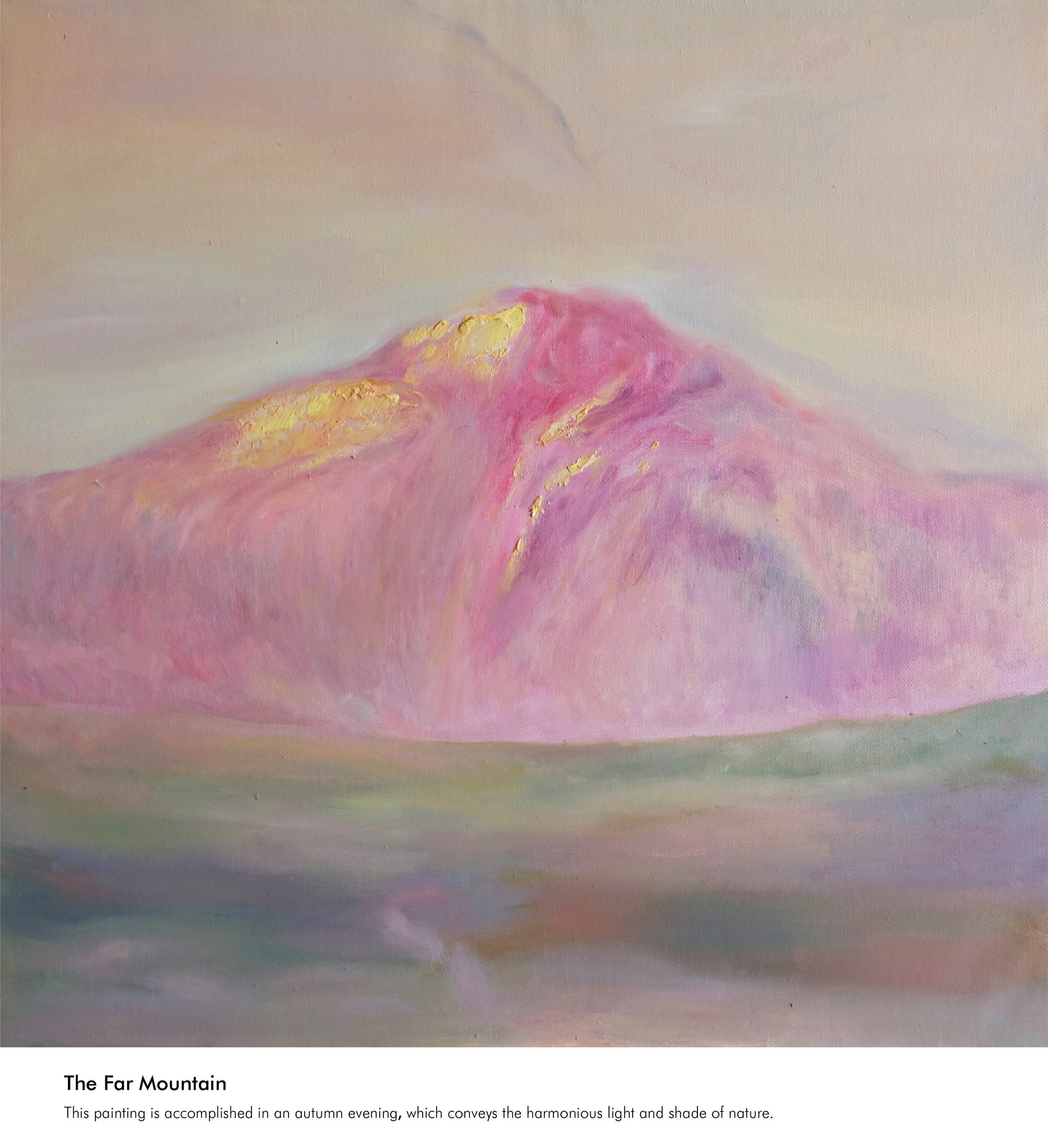 The Far Mountain ( oil painting )