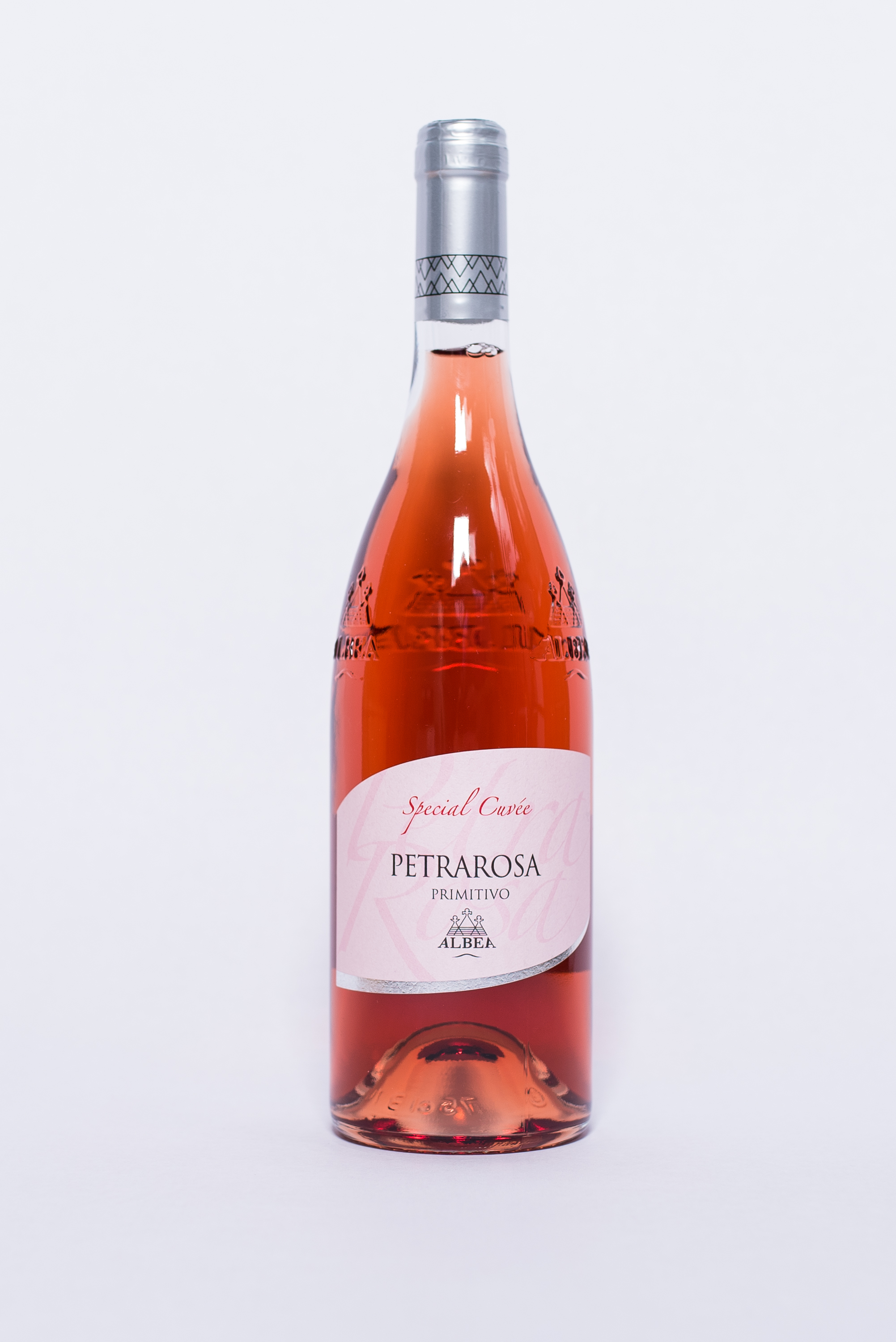 Petrarosa Rosato    Producer:   Cantina Albea    Region:  Puglia  Grapes:  Primitivo di Gioia 100%  Nose:  Floral and spicy notes with slight hints of berries, wild rose and pomegranate.   Taste:  Freshness and minerality well balanced by the volume and final taste of outstanding elegance wine.