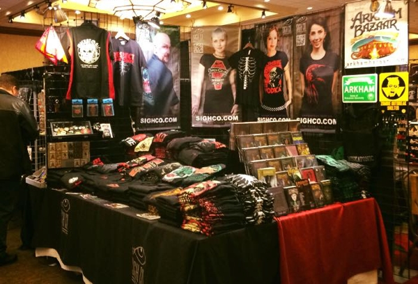 Sigh Co. Graphics booth at Crypticon 2017