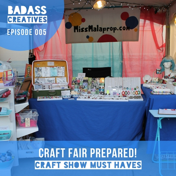 Host Mallory Whitfield spent more than 10 years selling her handmade work, as well as the work of other artists, at craft shows, festivals, and other events. In this episode, she shares some of her craft show must haves and lessons learned from selling at craft fairs.