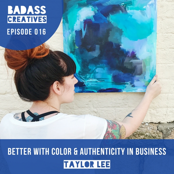 This week's guest, Taylor Lee, is a self-taught abstract painter who creates artwork inspired by self-image, self-love, and body positivity. Painting became a form of art therapy for Taylor while she was in treatment for an eating disorder. We talk about authenticity in business and why life is better with color.