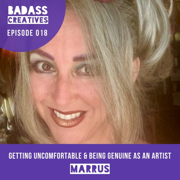 Marrus is a New Orleans painter who's been turning the fantastical pictures in her head into a roof over it since 1992. We discuss the journey that's taken her from comic book artist to painting faces at Renaissance faires and beyond. We talk about the importance of being genuine, sharing sacred knowledge, attracting your tribe, and getting uncomfortable as an artist.