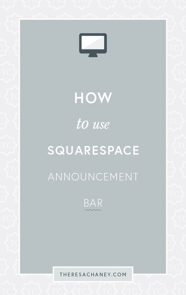 How to use Squarespace Announcement Bar.