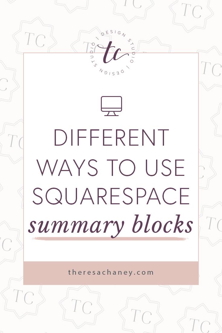 Squarespace Summary Blocks