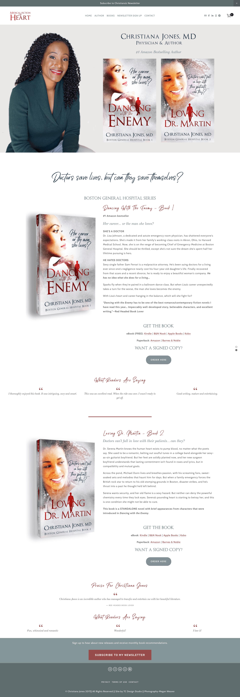 Christiana Jones - Medical Romance Author Squarespace Website View