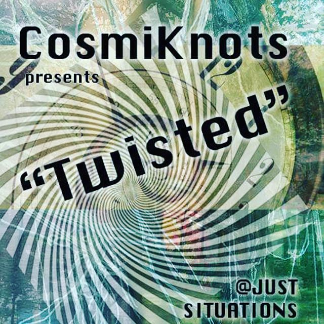 "Announcing ""Twisted"" - a CosmiKnots performance in NYC this summer as part of the Just Situations Performative Convention! Scroll pix or click link in bio for participation details! #gettingtiedup #entangledembodiment #cosmiknotty #participativeperformance #justexchanges"