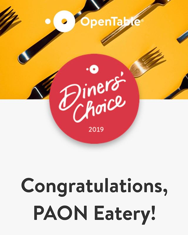 @opentable diners voted us again this year, thank you'll! #paonmiami #balharbour #bayharborislands #tapas