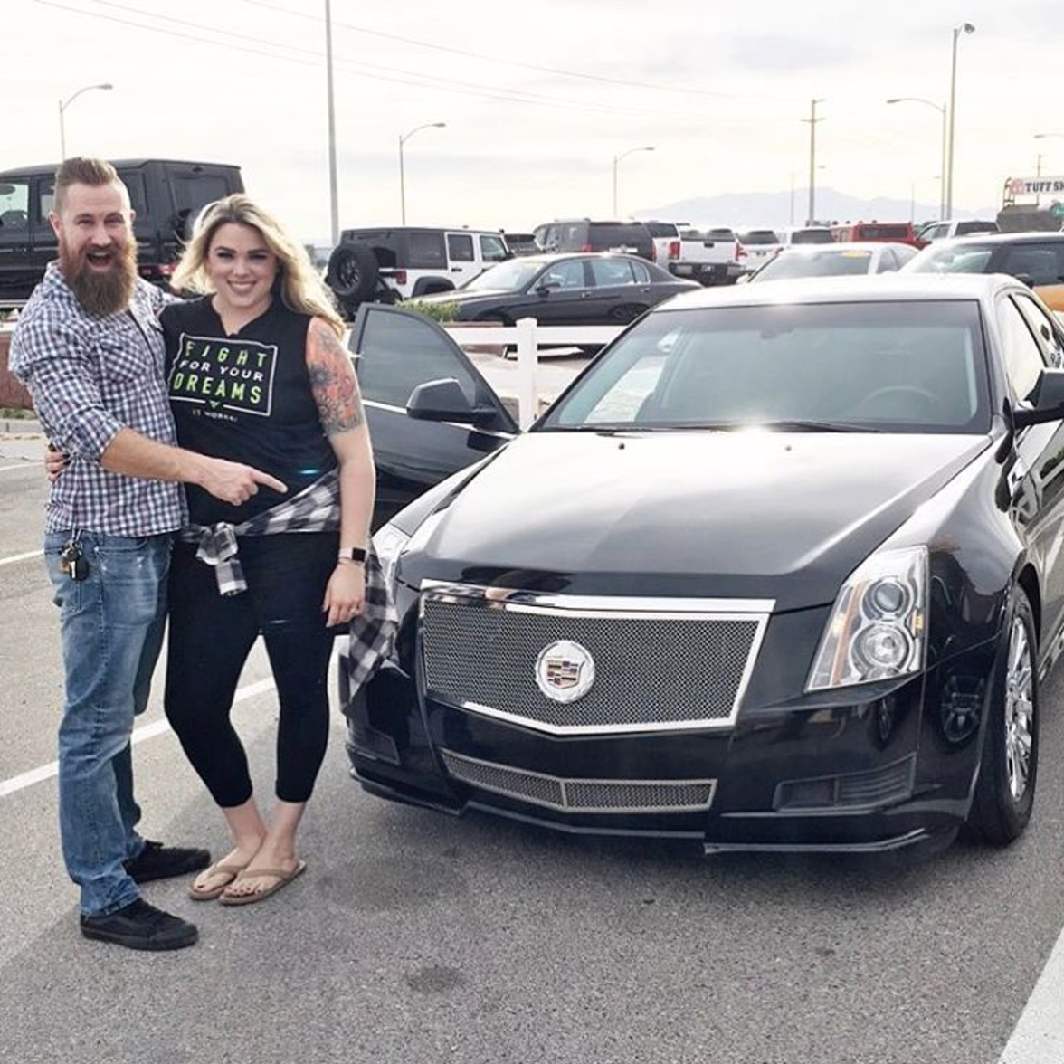 She bought me a Cadillac!