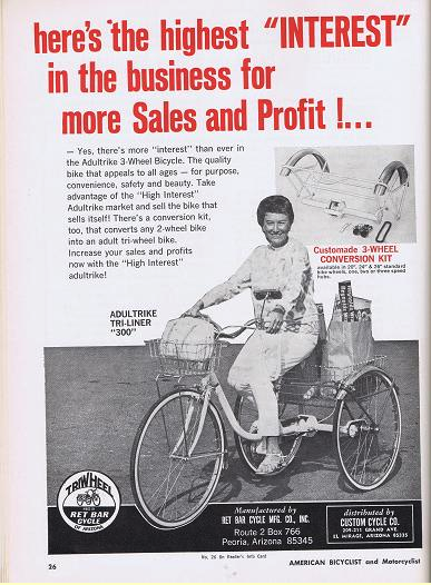 Vintage Ret Bar Cycle Tricycle Conversion Kit Ad