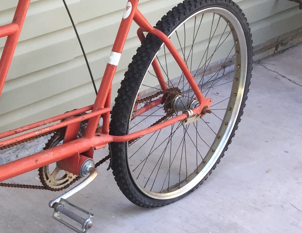 Picture of the RBC Tandem Back Tire No Gears or Brake
