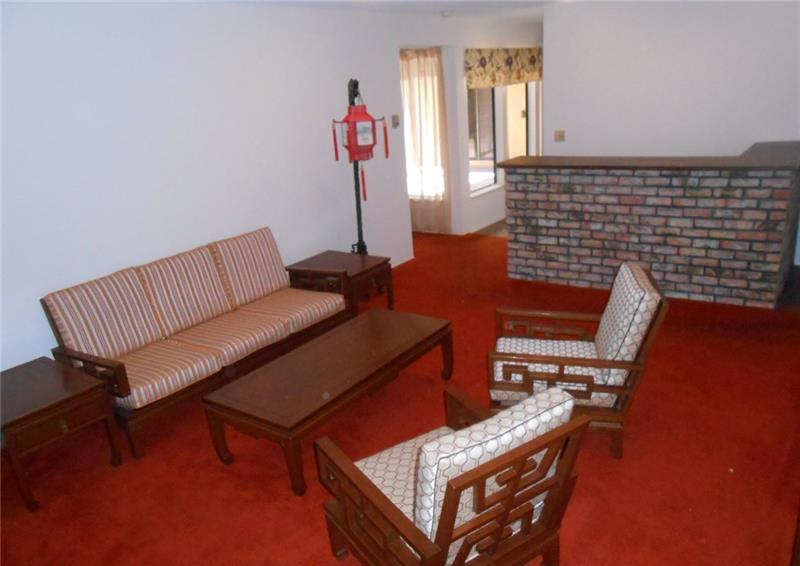 70s Living Room Red Shag Carpet
