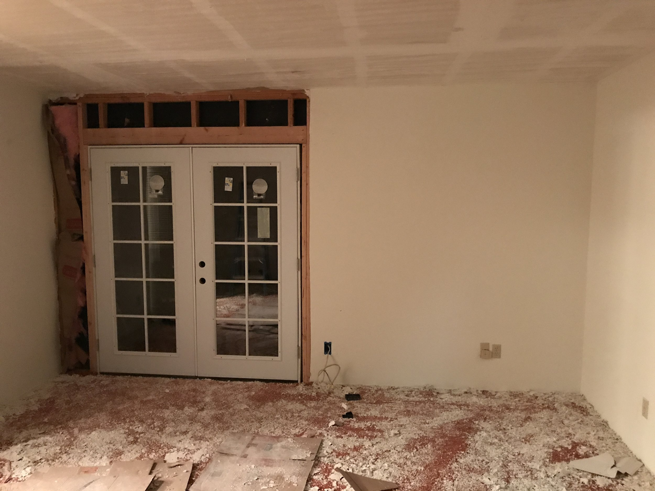 Adding French Doors to the Master Bedroom