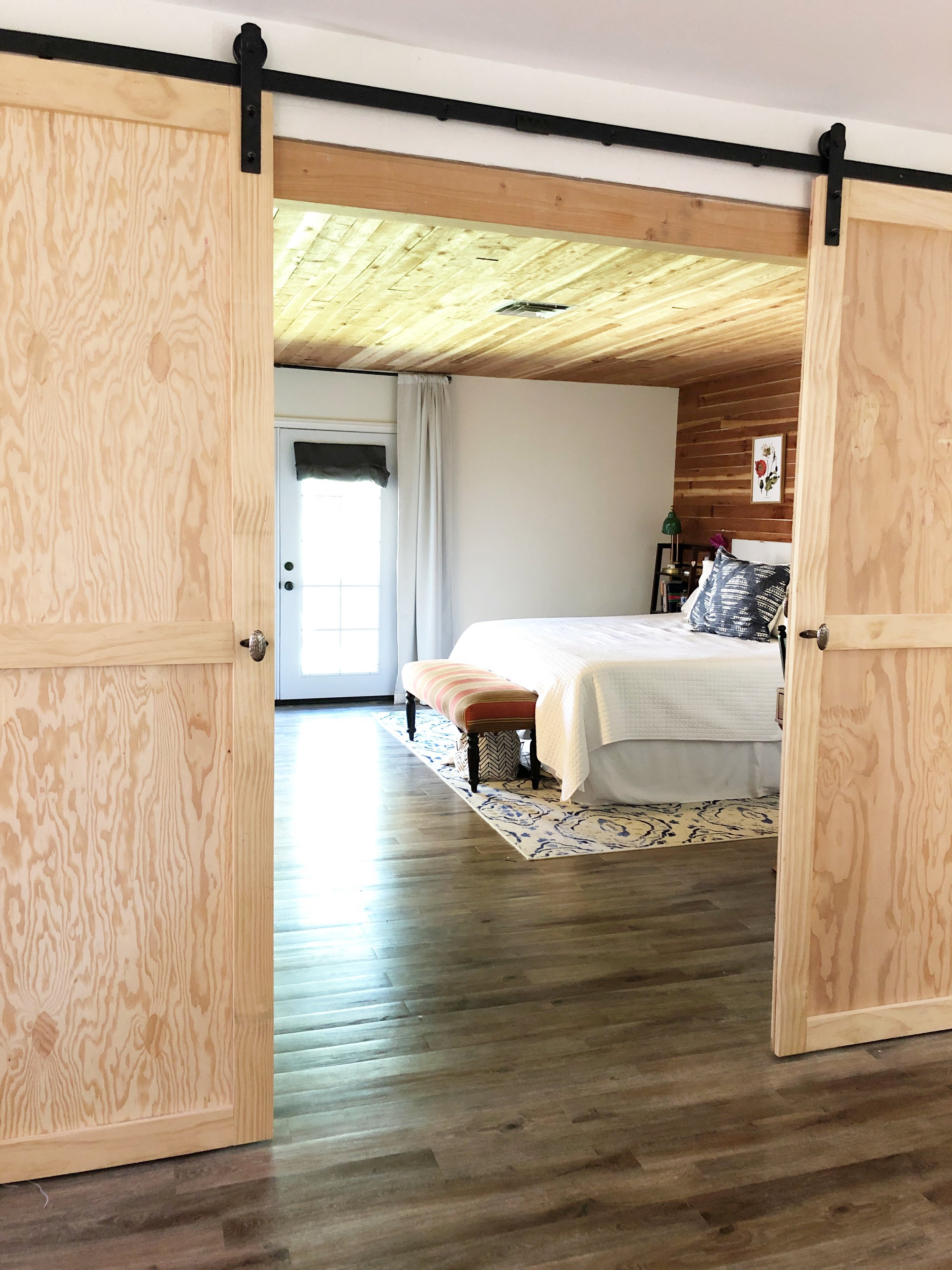 Barn Doors to Remodeled Master Bedroom