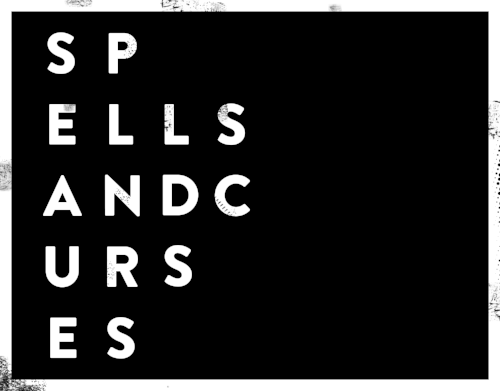 Spells and Curses logo (bw)